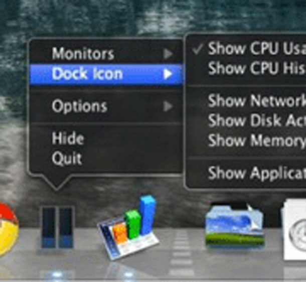 Activity monitor in dock