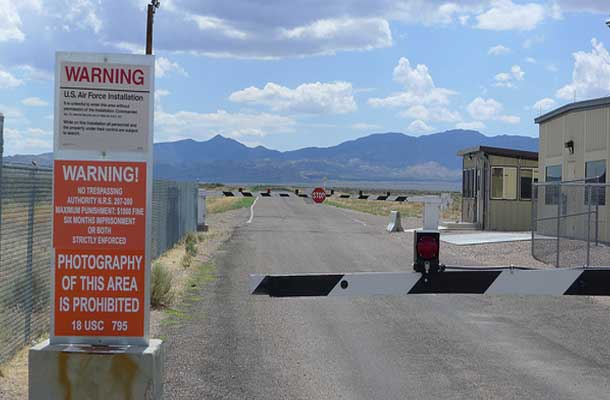 image of area 51 check point