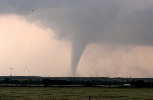 tornado in the distance