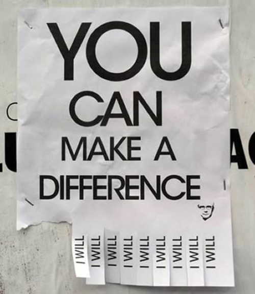 You can make a difference. I will.
