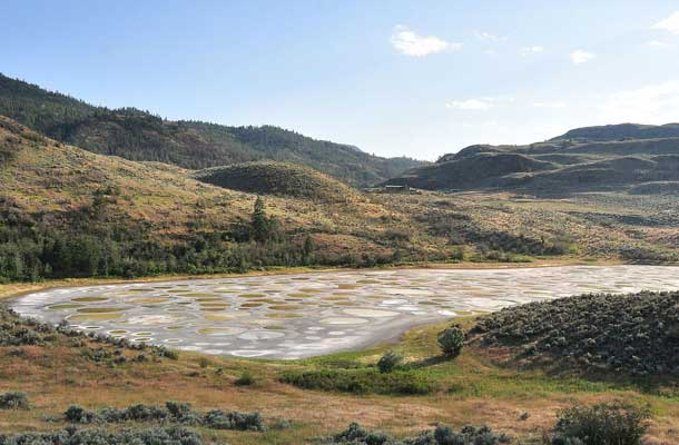 spotted lake with dusty surrounds
