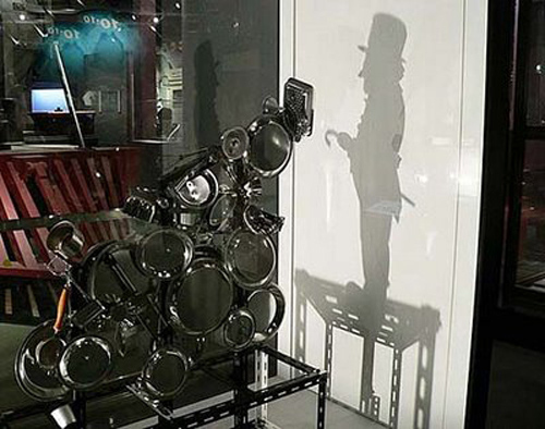 Shadow man with top hat