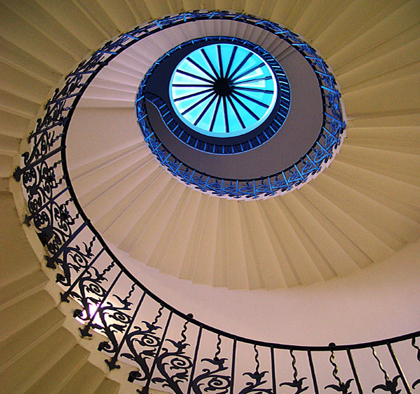Queen of England's Tulip Stairs
