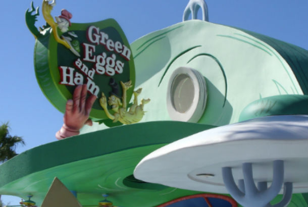 Green Eggs and Ham sign