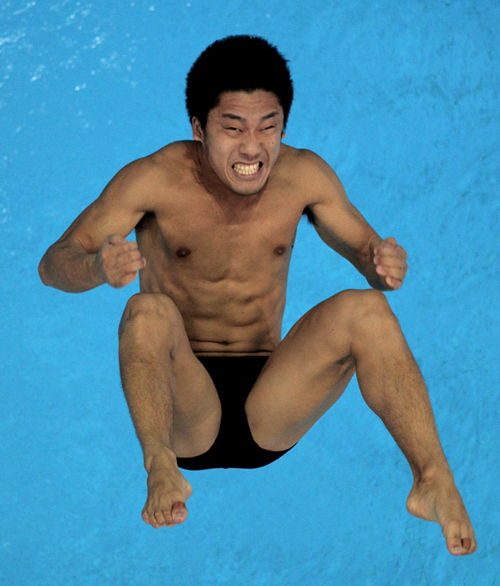funny diving face