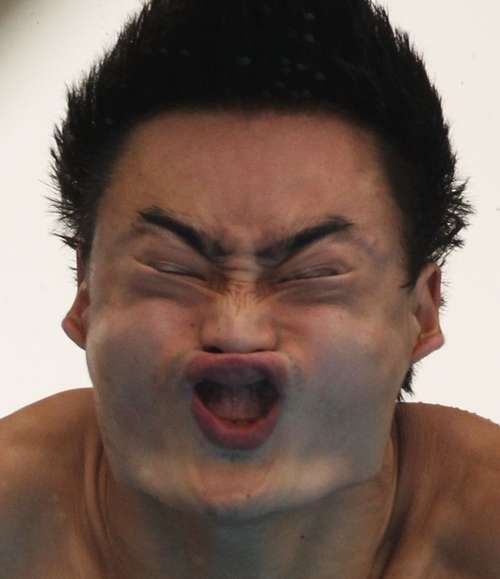 Kai Qin funny olympic dive face