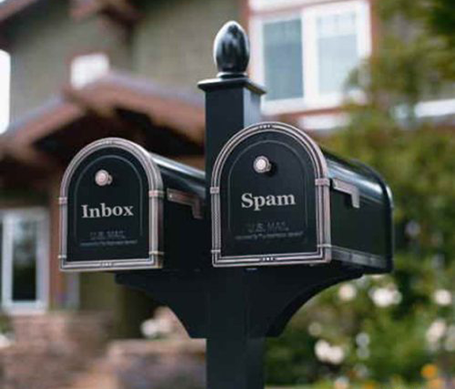 inbox and spam mailbox