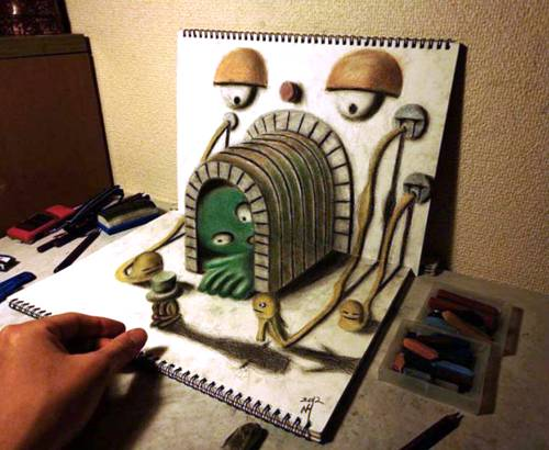 Tunneling Realistic 3D Drawing