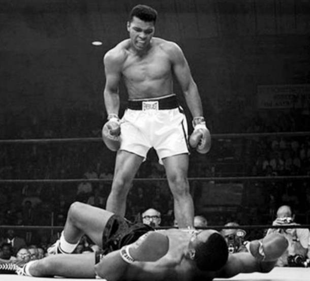 Cassius Clay Defeats Sonny Liston for Heavyweight Championship 1964