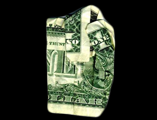 25 Cleverly Folded Hidden Messages On Dollar Bills