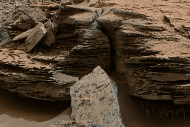 close up of rock formation