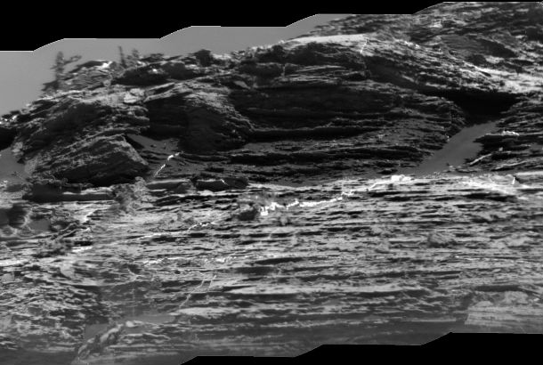 close up of ridges on rock formation
