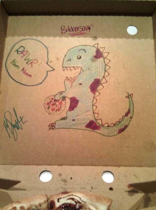 Drawings On Pizza Boxes