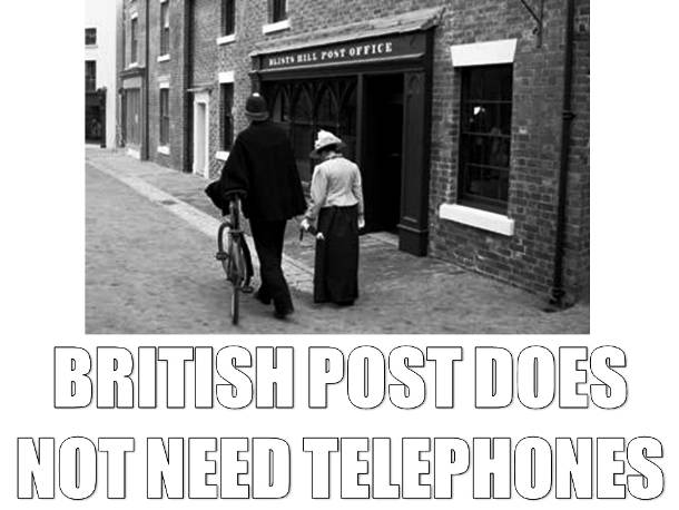 The British Post and the Telephone