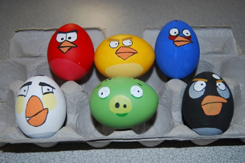 angry birds easter egg