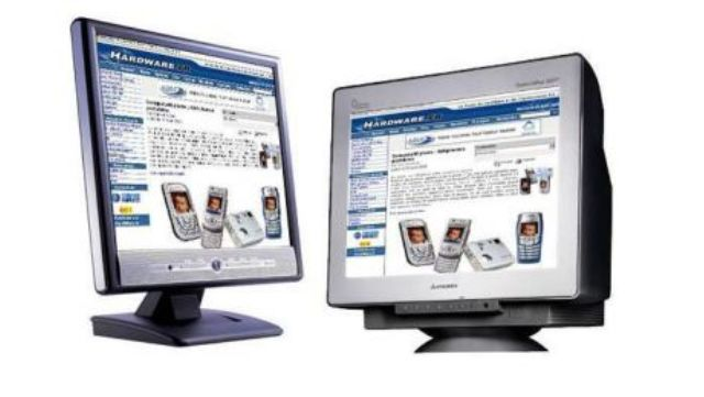 Choose an LCD monitor over an old CRT monitor