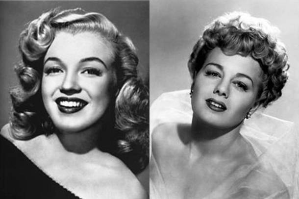 Marilyn Monroe and Shelley Winters