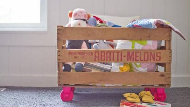 Toy Box Made out of Fruit Crate