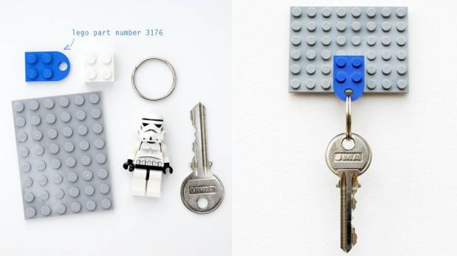 Key Holder Made out of Lego Blocks
