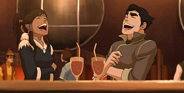 Korra said sorry a lot of times to Bolin when he professed his feelings for her.
