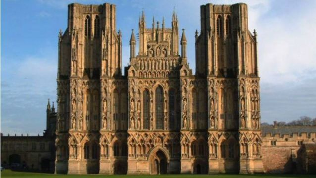 Wells Cathedral. Wells, Somerset, England. 1176