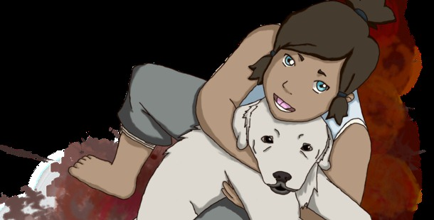 Korra found Naga not as a dog but as a pup.