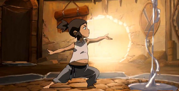 When Korra was still a little kid, she met with Sokka on different occasions.