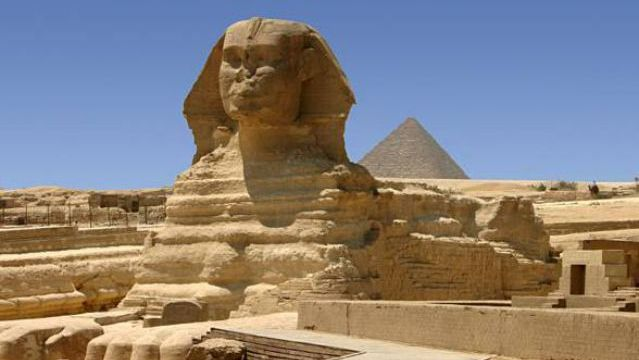 The Great Sphinx. Giza, Egypt. c. 2558 to 2532 B.C.