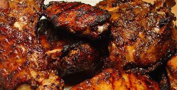 Hell Brined, Smoked and Grilled Jerk Chicken Wings at East Coast Grill