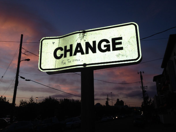 change for the better sign