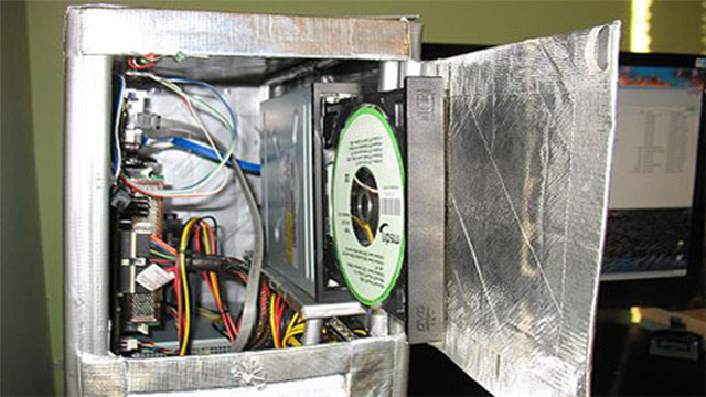 duct tape computer casing
