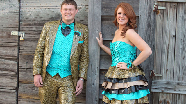 duct tape prom dress and suit
