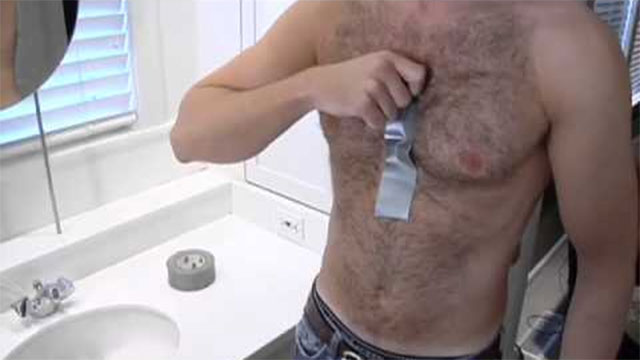 duct tape hair removal