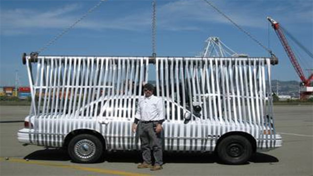 duct tape picking up a car
