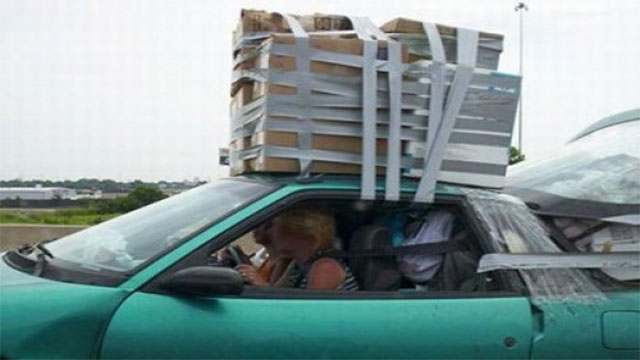 duct tape luggage rack