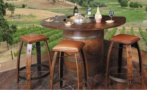 recycled wine barrel