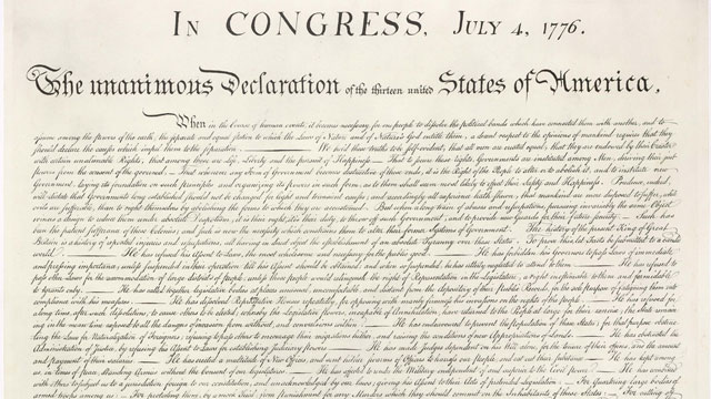 printed version of the Declaration