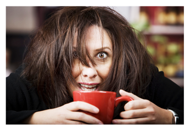 dailyplateofcrazy.com Coffee-Crazed-Woman-with-Red-Cup