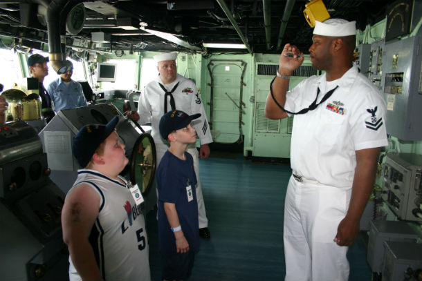 A sailor whistling