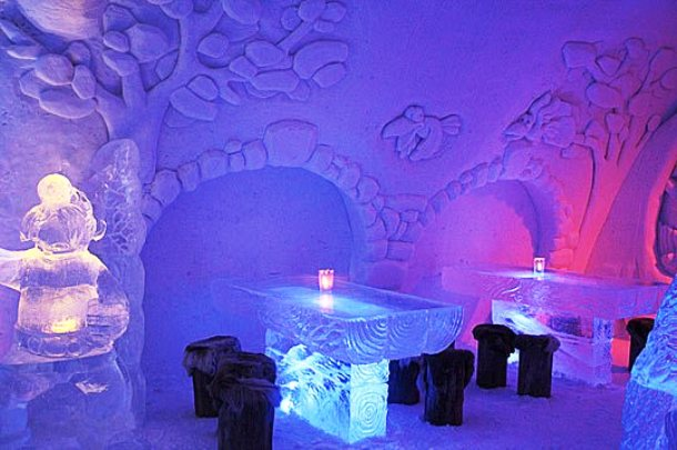 www.funelf.net Restaurant-of-Snow-And-Ice-In-Kemi-Finland