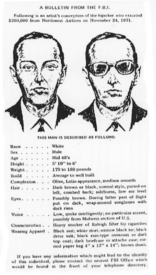 """The Legendary """"D. B. Cooper"""" Air Robbery"""