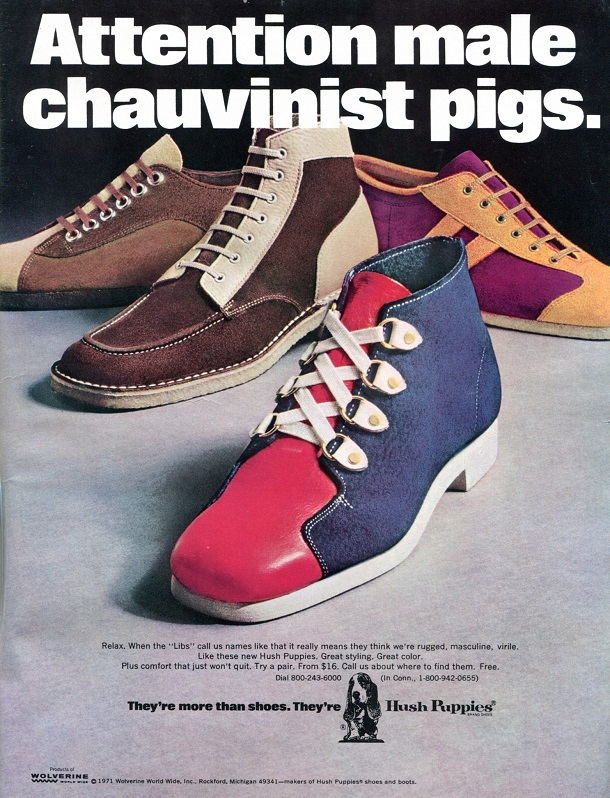 hush puppy shoes ad