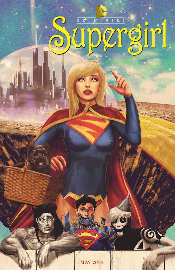 Supergirl wizard of OZ spoof