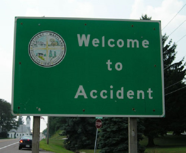 accident maryland sign