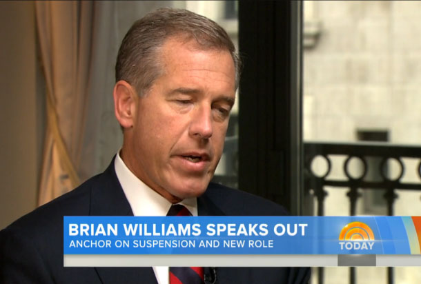 Brian Williams speaks out