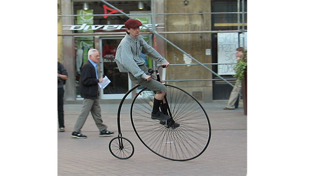 The introduction of the penny-farthing coincided with the birth of cycling as a sport