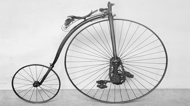 The first machine to be called a bicycle was the penny-farthing, which developed out of the French velocipede