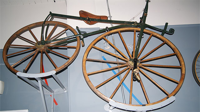 Imagine ride on a wrought iron frame with wooden wheels and tires made of iron. You'd understand the pain.