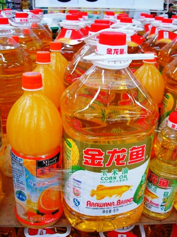 Cooking oil packed with orange juice