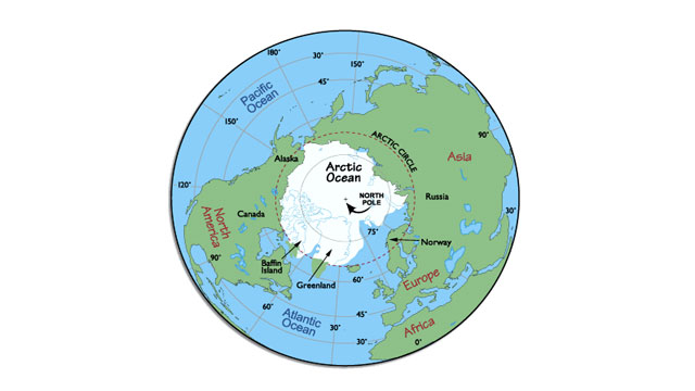 The other pole is the Geographic North Pole which is technically defined as the point where the axis of the Earth's rotation intersects the Earth's surface. In other words it is the fixed point that references the top of the world.